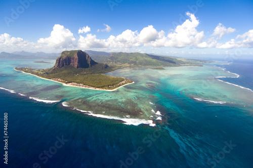 Wallpaper Mural Aerial Mauritius