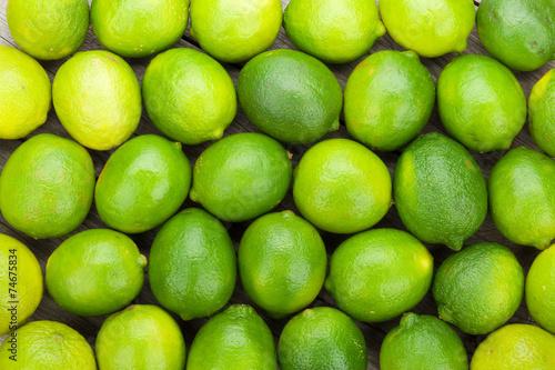 Stampa su Tela Fresh ripe limes