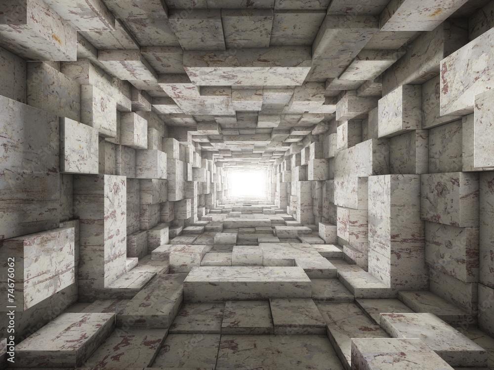 szary kamienny korytarz <span>plik: #74676062   autor: Numax3d</span>
