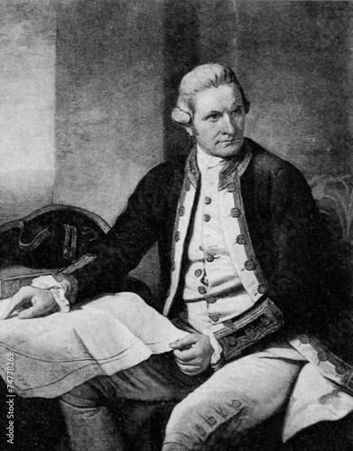 Canvas Print Captain Cook (Nathaniel Dance-Holland, c.1775)