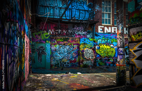 In the Graffiti Alley, Baltimore, Maryland.