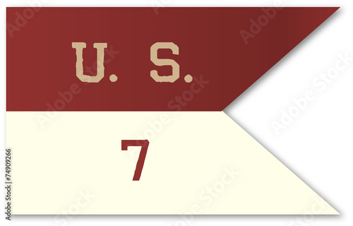Canvastavla 7th Cavalry Flag