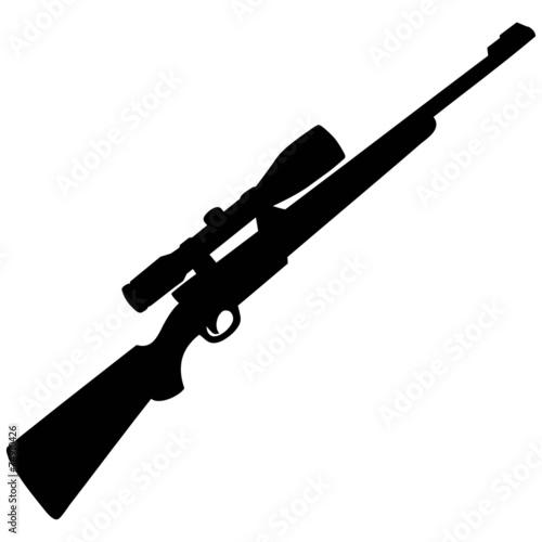 Fototapeta Hunting Rifle Silhouette