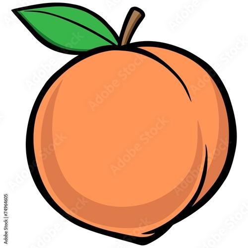 Canvas Print Peach