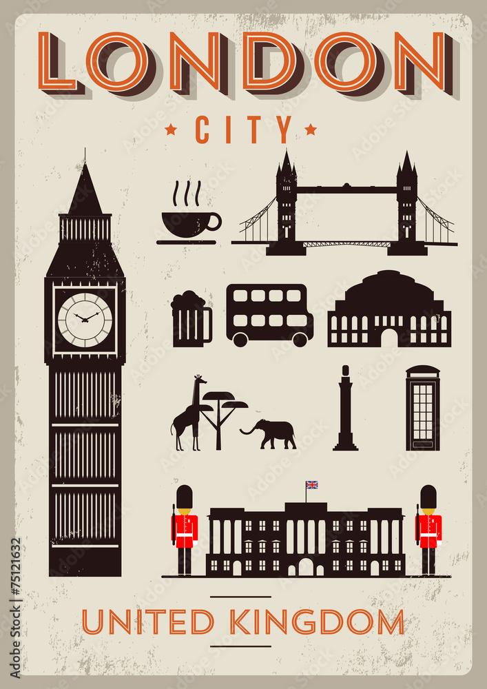 Projekt plakatu London City <span>plik: #75121632   autor: Kürşat Ünsal</span>