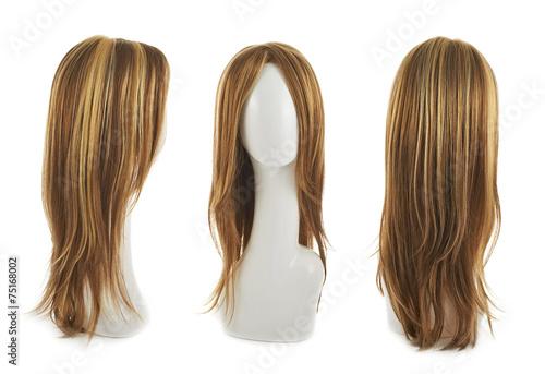 Hair wig over the mannequin head Fototapeta