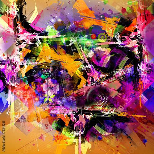 Plakat jasne abstrakcyjne tło