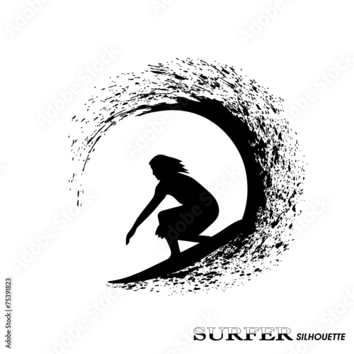 surfer on waves an illustration on a white background #75391823