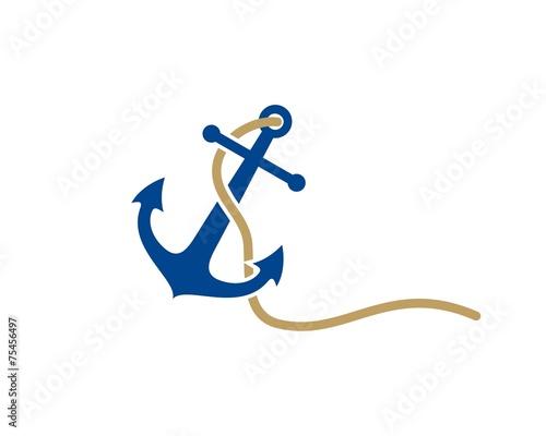 Fotografia anchor logo template