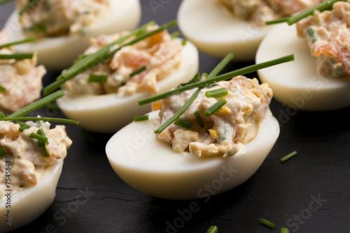 stuffed eggs with salmon