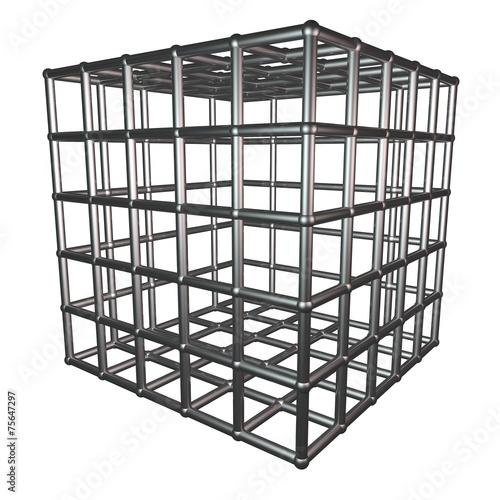 Metallic cage Fototapeta