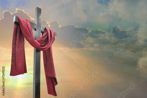 Foto Kreuz gegen den Himmel