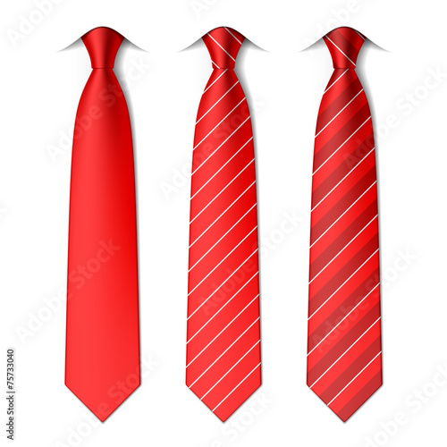 Fotografering Red plain and striped ties