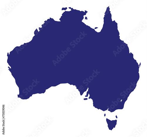 Canvas Print Australia Silhouette