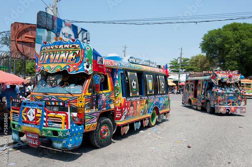 Fototapeta Tap-Tap Busse, Port-au-Prince, Haiti