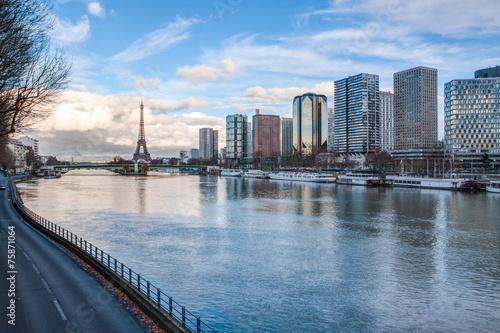 Paris skyline at dusk #75871064