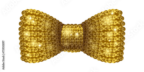 Obraz na plátne Golden sequins bow tie.