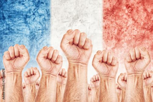 Fotografie, Tablou France Labour movement, workers union strike
