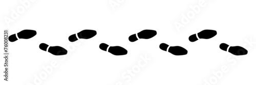 Valokuva Spur, Schuhabdruck, Businesschuhe, Vektor, schwarz, freigestellt