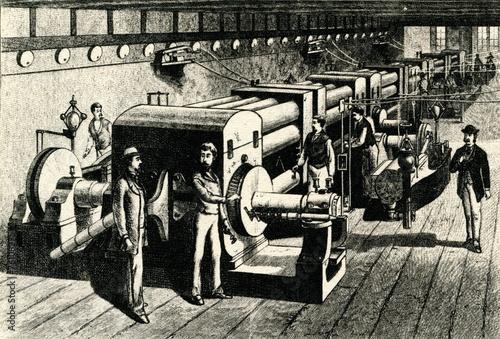 Fotografia, Obraz World's first central power station (Edison, 1882)