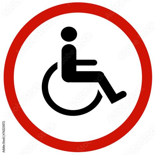 Obraz na płótnie cripple sign
