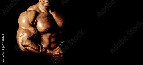 Canvas Print Bodybuilder posing