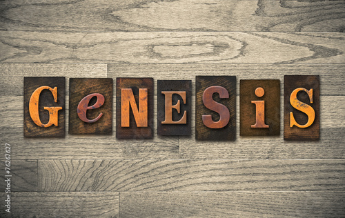 Canvastavla Genesis Wooden Letterpress Concept