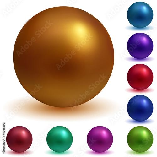 Multicolored spheres Fototapeta