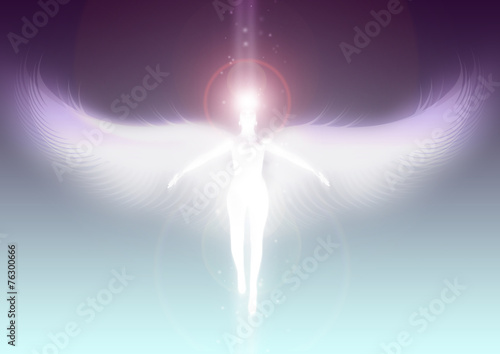 Canvas Angel ascending to heaven