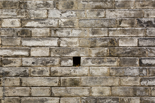Valokuvatapetti Old stone block wall texture
