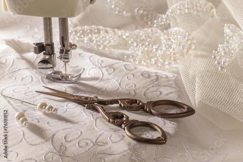 Stampa su Tela Sewing Scissors