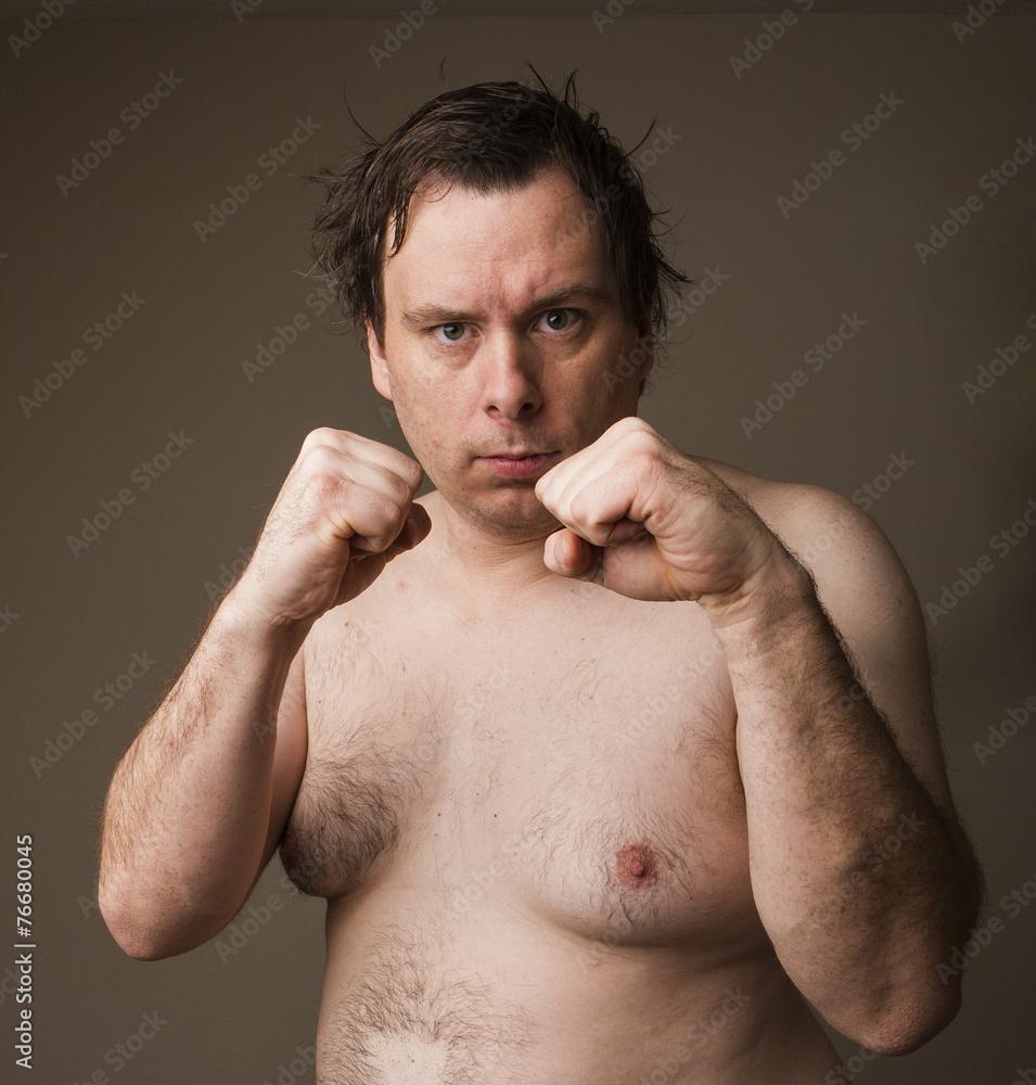 Fat Naked Man
