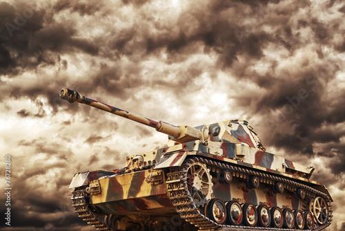 Canvas Print German Tank