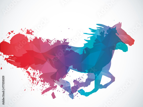 Canvas Print Abstract horse