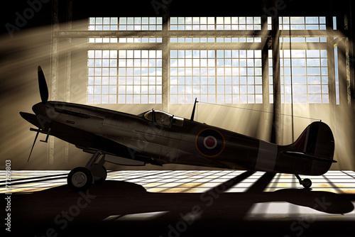 Canvas Print Spitfire Mk.V - modelled in 3D