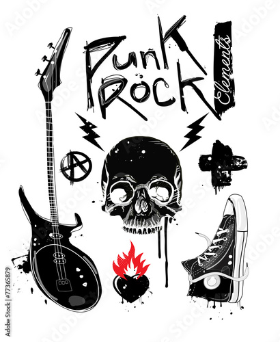 Fotografie, Obraz Punk Rock Elements