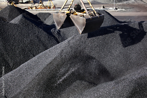Canvas Print Heaps of coal