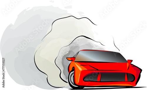 Photo Sport car drift