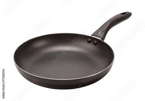 Fotografia Empty Black Frying Pan (clipping path)
