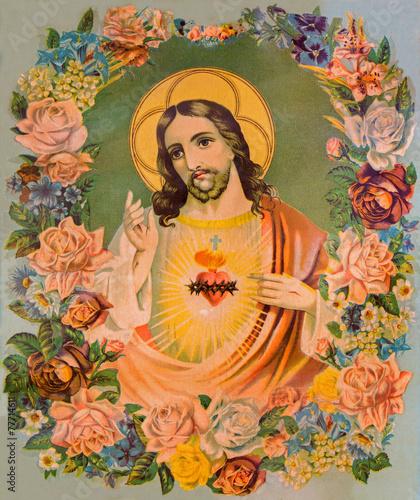 Fototapeta Serce Jezusa Chrystusa - typowy obraz katolicki
