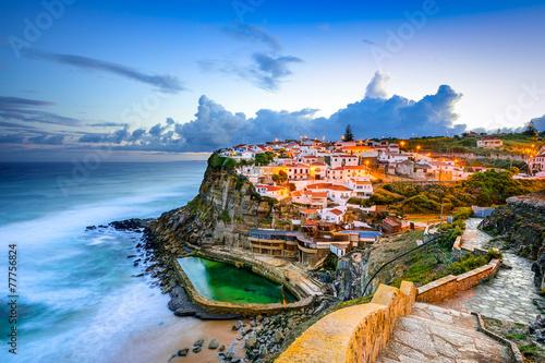 Azenhas do Mar Seaside Town in Sintra, Portugal
