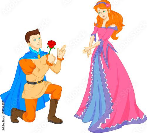 charming prince and beautiful princess
