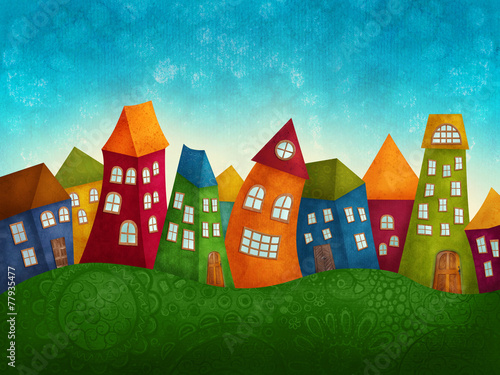 Fantasy colorful houses