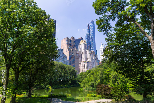 Fotomural Central Park The Pond Manhattan New York