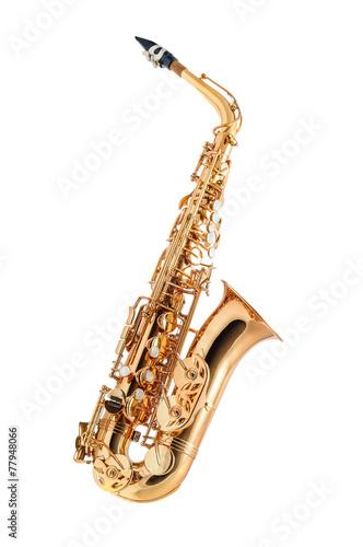 Stampa su Tela Saxophone isolated
