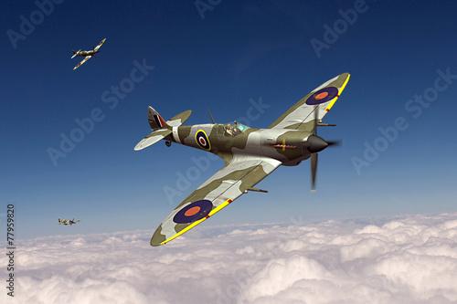 Canvas Print Supermarine Spitfire