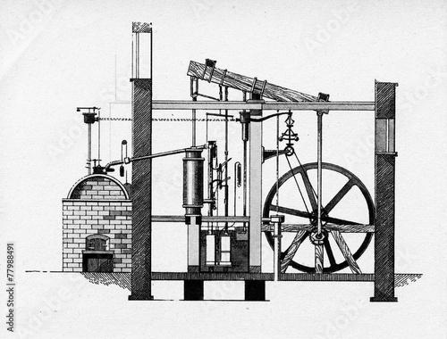 Obraz na plátně Watt steam engine, 1784