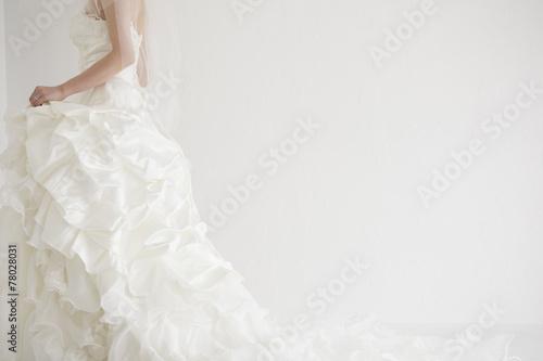 Canvas-taulu Bride is walking