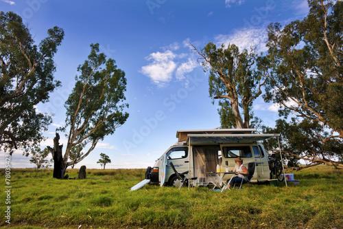 Travelling In A Campervan Fototapeta