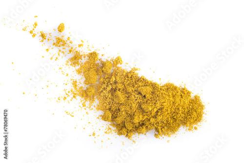 Valokuva Curry aislado sobre un fondo blanco
